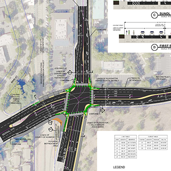 1st Street / Sunol Blvd / Bernal Ave Protected Intersection